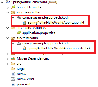 springboot kotlin helloworld - project structure - updated