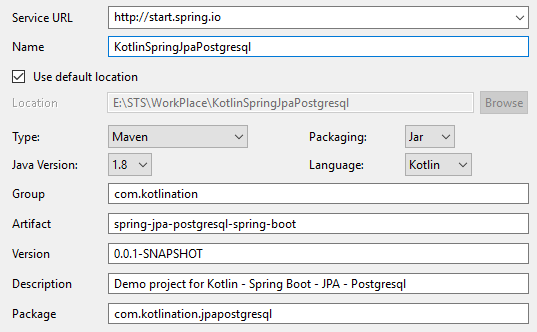 spring-jpa-postgresql-start